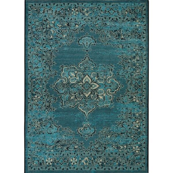 8 X 11 Area Rugs On Sale: Shop Safavieh Palazzo Black/ Cream/ Turquoise Overdyed