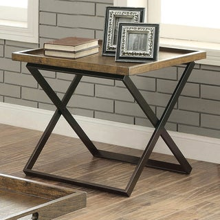Furniture of America Tapper Urban Tray Top End Table
