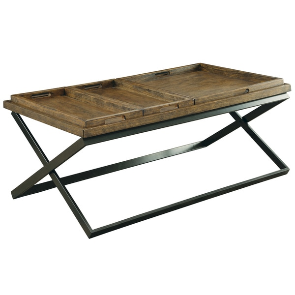 Furniture Of America Tapper Urban Coffee Table With 3 Removable Trays    Free Shipping Today   Overstock.com   18384352