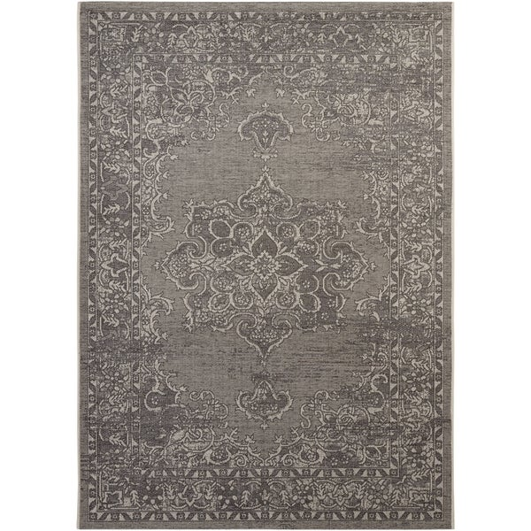 Safavieh Palazzo Light Grey/ Anthracite Medallion Area Rug - 8' x 11'