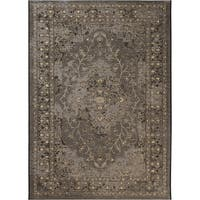 Safavieh Palazzo Black/ Cream/ Beige Oriental Area Rug (8' x 11')