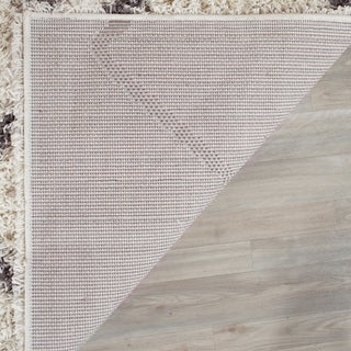 Safavieh Dallas Shag Ivory/ Dark Green Rug (8' 6 x 12')