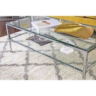 Furniture of America Midiva Contemporary Metal 2-piece Accent Table Set