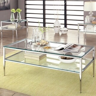Furniture of America Luch Contemporary Metal 2-piece Accent Table Set