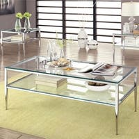 Furniture of America Midiva Contemporary Metal 2-piece Accent Table Set