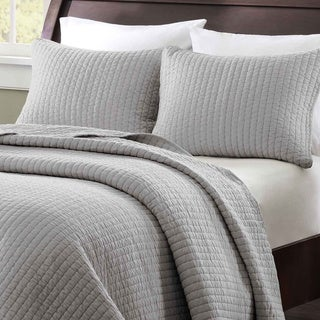Madison Park Jaxson Grey 3-piece Coverlet Set
