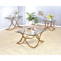 Silver Orchid Brockwell Modern 3-piece Champagne Accent Table Set