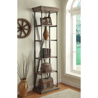 Somette Rustic Iron and Wood Etagere