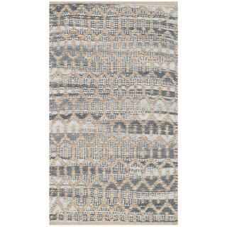 Safavieh Cape Cod Handmade Natural / Grey Jute Natural Fiber Rug (2'3 x 3'9)