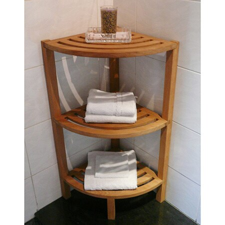 Cambridge Casual Spa Teak 3-tiered Corner Shelf (14.5 in....