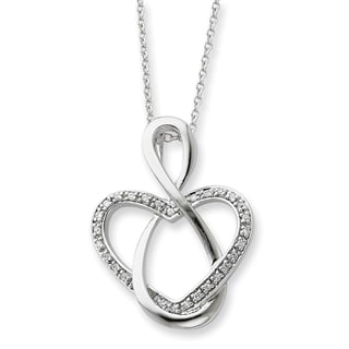 Versil Sterling Silver Cubic Zirconia Lifetime Friend Necklace