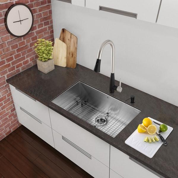 Shop Vigo All In One 23 Inch Stainless Steel Undermount Kitchen Sink