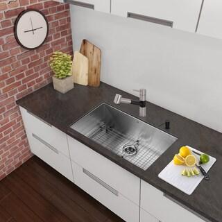 Charmant VIGO All In One 23 Inch Stainless Steel Undermount Kitchen Sink And Branson