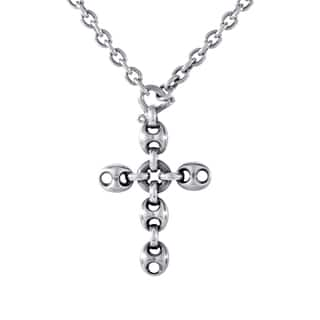 Gucci Marina Chain Sterling Silver Crucifix Pendant Necklace https://ak1.ostkcdn.com/images/products/11421887/P18384498.jpg?impolicy=medium