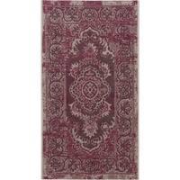 Safavieh Palazzo Light Grey Anthracite/ Purple Overdyed Area Rug (2' x 3'6)