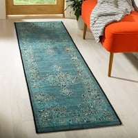 Safavieh Palazzo Black/ Cream/ Turquoise Overdyed Area Rug - 2' x 3'6""