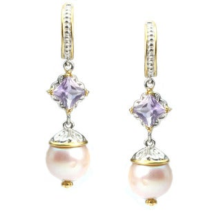 One-of-a-kind Michael Valitutti Pearl Drop Earrings