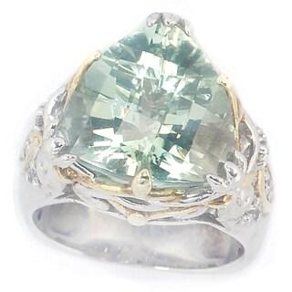 Copy of Michael Valitutti Palladium Silver Green Amethyst Ring