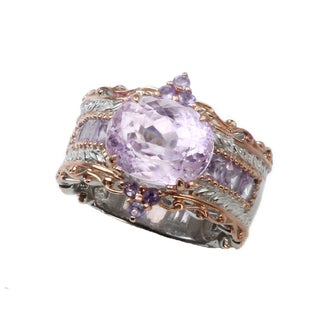 Michael Valitutti Kunzite and Brazillian Amethyst Ring (3 options available)