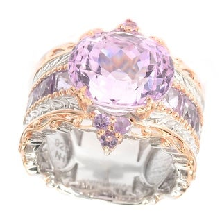 Michael Valitutti Kunzite and Brazillian Amethyst Ring