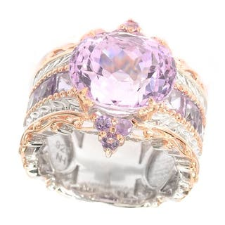 Michael Valitutti Kunzite and Brazillian Amethyst Ring|https://ak1.ostkcdn.com/images/products/11421915/P18384465.jpg?impolicy=medium