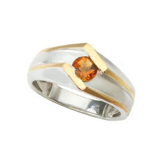 Michael Valitutti Madiera Citrine Mens Ring