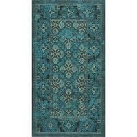 Safavieh Palazzo Black/ Cream/ Turquoise Overdyed Area Rug (2' x 3'6)