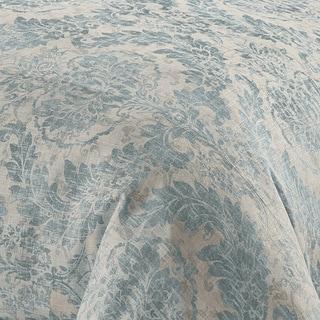 Grand Luxe Medallion Pattern Linen 3-piece Duvet Set
