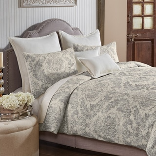Grand Luxe Medallion Pattern Linen 3-piece Duvet Set