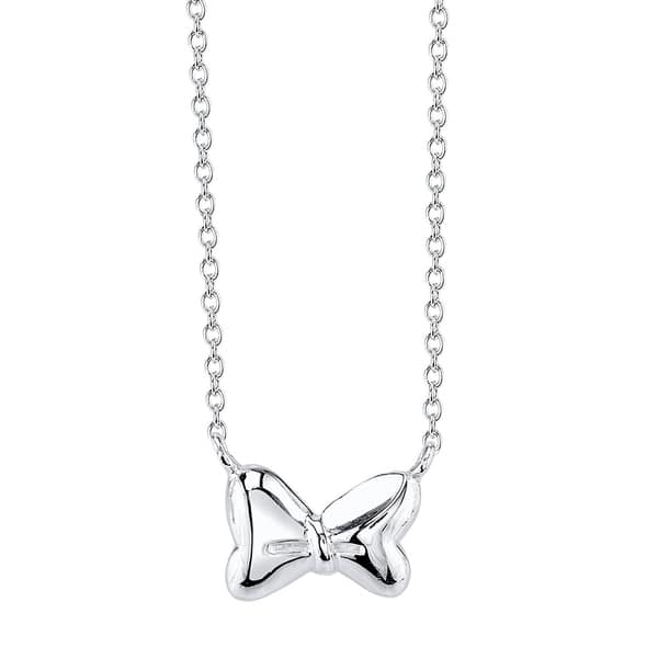 17a184333 Shop Disney Sterling Silver Minnie Mouse Bow Necklace - Free Shipping On  Orders Over $45 - Overstock - 11422005