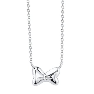 Disney Sterling Silver Minnie Mouse Bow Necklace