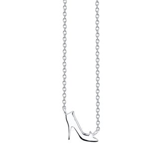 Disney Sterling Silver Cinderella Slipper Necklace