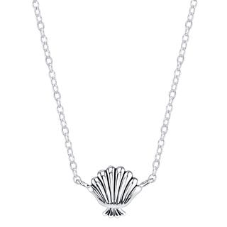 Disney Sterling Silver Little Mermaid Seashell Necklace|https://ak1.ostkcdn.com/images/products/11422049/P18384610.jpg?impolicy=medium
