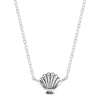 Disney Sterling Silver Little Mermaid Seashell Necklace