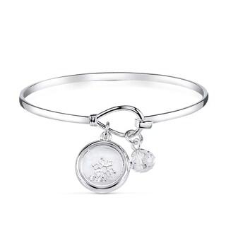 Disney Silverplated Brass and Austrian Crystal Frozen Bracelet