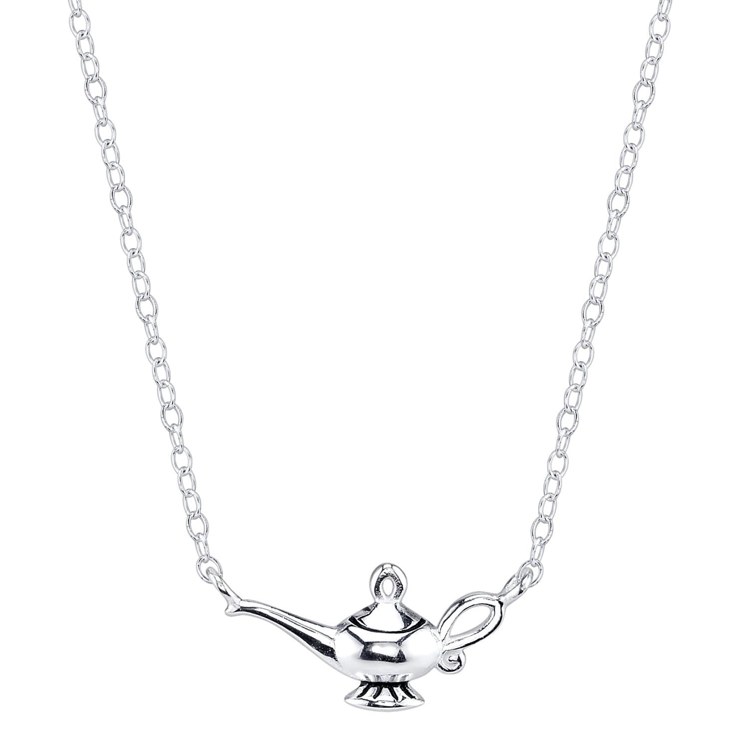 Disney Sterling Silver Aladdin Magic Lamp Necklace (Disne...