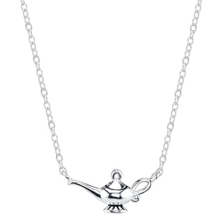Disney Sterling Silver Aladdin Magic Lamp Necklace