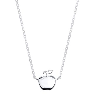 Disney Sterling Silver Snow White Apple Necklace