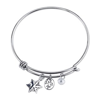 Disney Frozen Stainless Steel and Crystal Bracelet