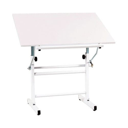 Offex Bel Aire Nuevo Drawing/Drafting Table White Top (Wh...