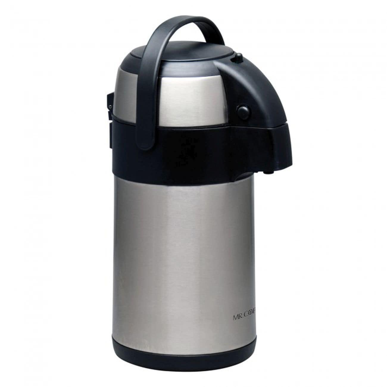 Mr Coffee Brown) Everflow Pump Pot (Stainless Steel)