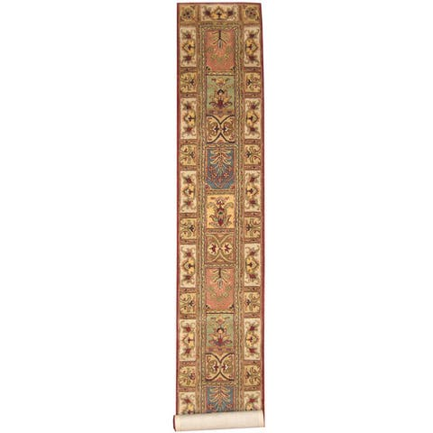 Handmade Tabriz Wool Runner (India) - 2'3 x 13'10