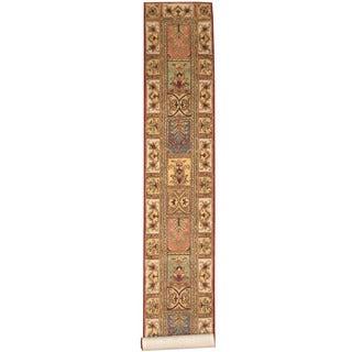 Herat Oriental Indo Hand-tufted Tabriz Red/ Ivory Wool Runner (2'3 x 13'10)