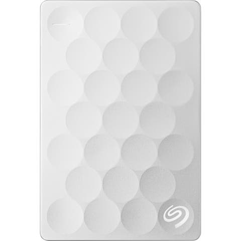 Seagate Backup Plus Ultra Slim STEH2000100 2 TB Hard Drive - External - Portable - Platinum