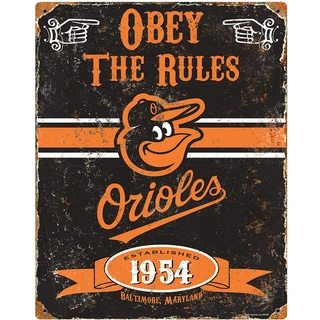 Baltimore Orioles Embossed Metal Sign