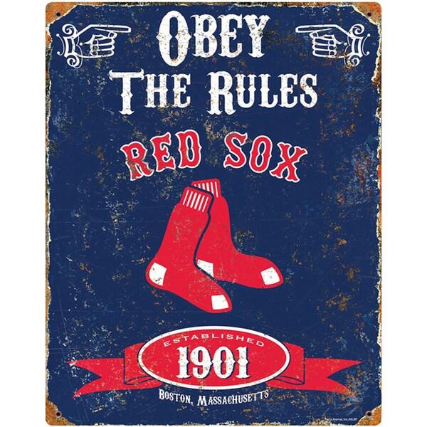 Boston Red Sox Embossed Metal Sign