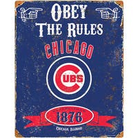Chicago Cubs Embossed Metal Sign