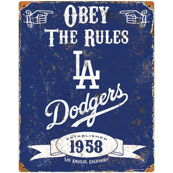 Los Angeles Dodgers Embossed Metal Sign