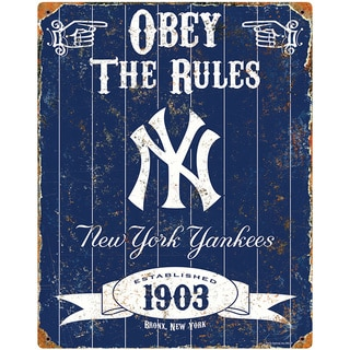 New York Yankees Embossed Metal Sign