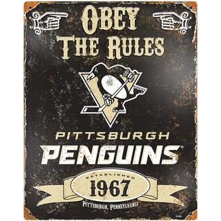 Pittsburgh Penquins Embossed Metal Sign